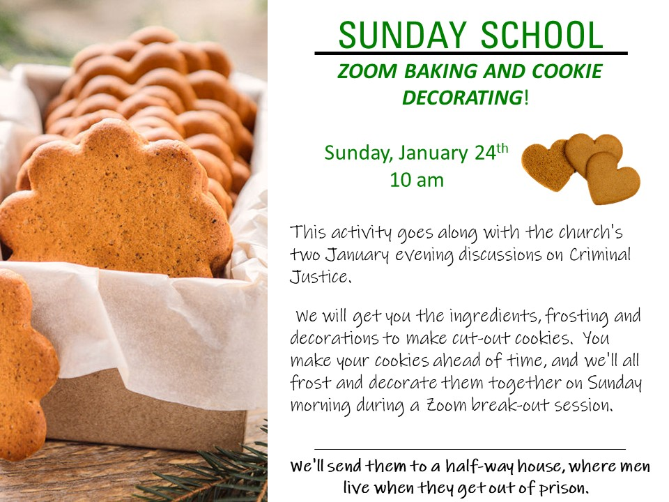 Sunday School baking and cookie decorating